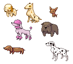 Paint: Pixel Dogs by RedKnight91