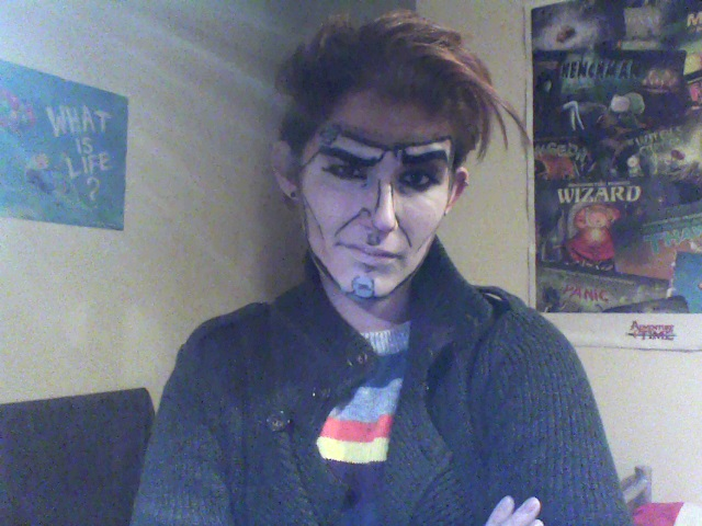 Handsome Jack make-up test by SophiePants