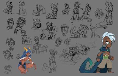 Dragon boy sketches by Zukitz