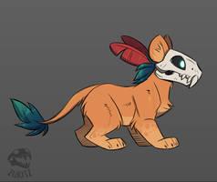 Quick Skull Cat by Zukitz