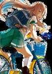 #1 Anime Girl on bike Render