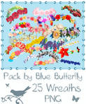 Pack by Blue Butterfly PNG 25 Wreaths