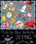Pack by Blue Butterfly PNG 20 #1