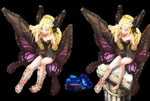 #5 Anime girl Butterfly Render by Butterfly-Blue-B
