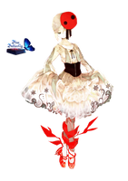 #6 Anime Hell ballerina Render by Butterfly-Blue-B