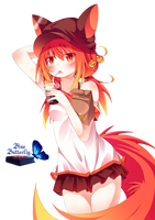 #8 Anime fox girl Render by Butterfly-Blue-B