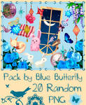 Pack by Blue Butterfly PNG 20 #2
