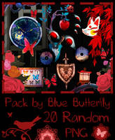 Pack by Blue Butterfly PNG 20 #3 by Butterfly-Blue-B
