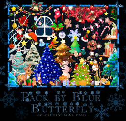 Pack by Blue Butterfly PNG 60 Christmas