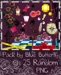 Pack by Blue Butterfly PNG 25 #4