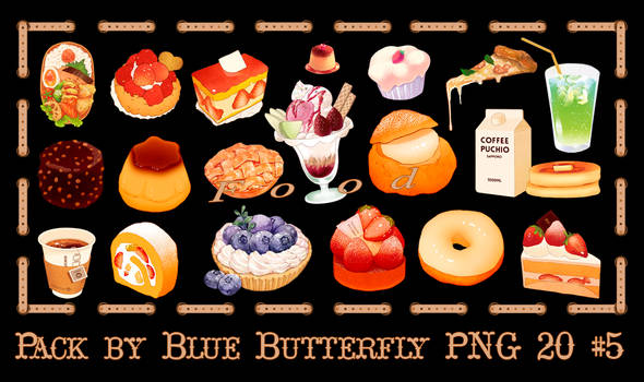 Pack by Blue Butterfly PNG 20 #5