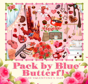 Pack by Blue Butterfly PNG 50 Valentine's Day