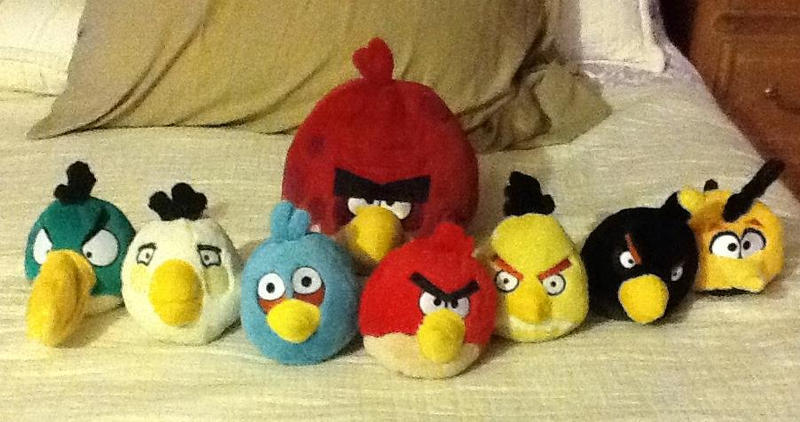 All Angry Birds Plush Toys : Angry birds plush collection ^w^ by cameronwink on deviantart