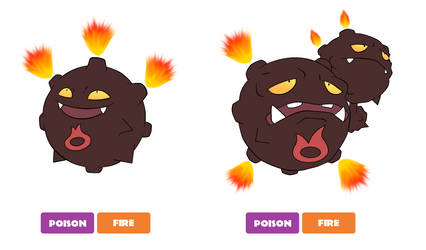 Hannunian Koffing and Weezing