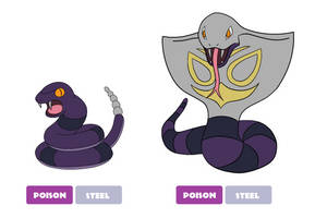 Hannunian Ekans and Arbok by Cameronwink