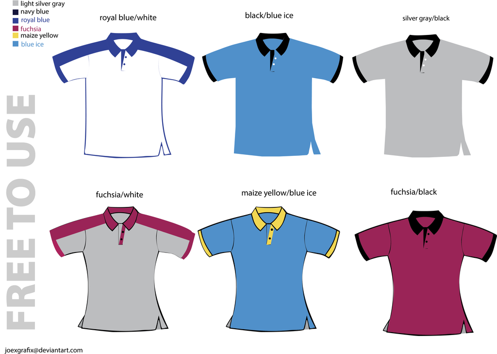 Polo shirt design template for Polo shirt design template