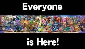 Everyone is Here! | SSBU/S Artwork