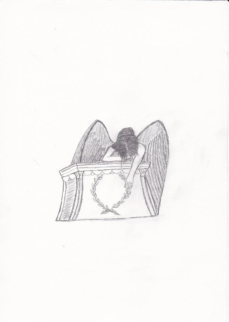 Sad Angel Drawing Sad Angel Drawing by me by