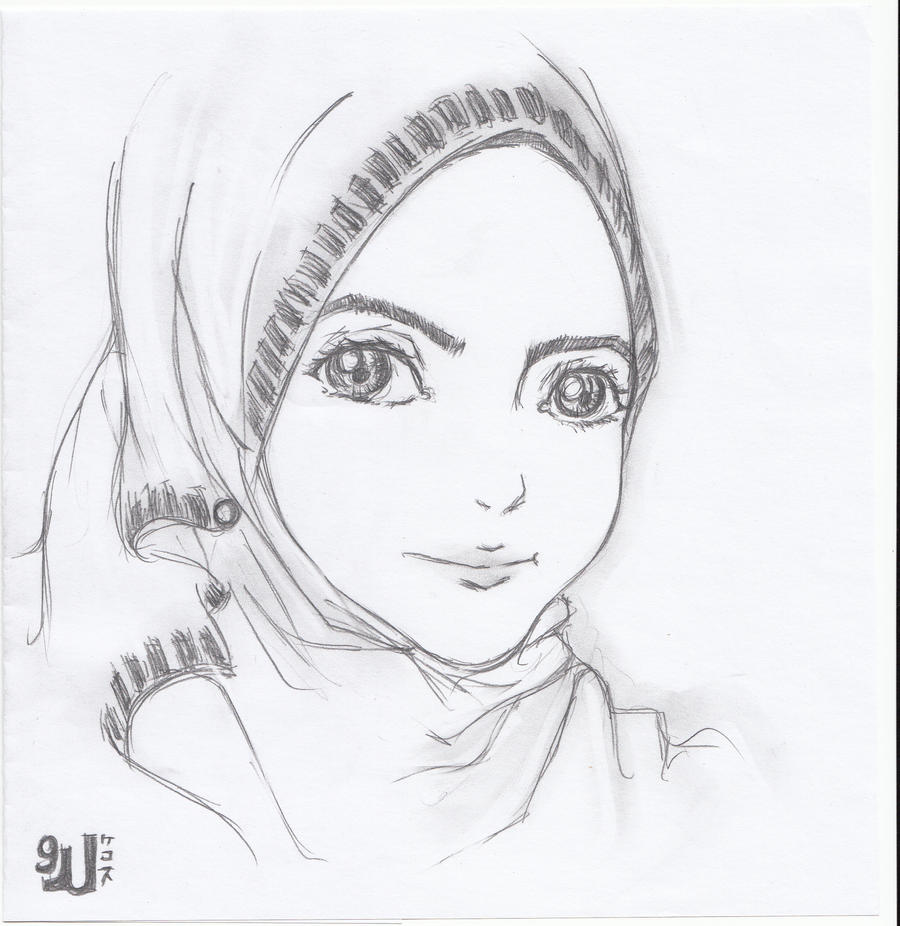 Gambar anime hijab pensil with pencil 3 by crowyon on deviantart