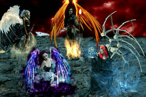 The Four Angels of the Apocalypse by deejjoy