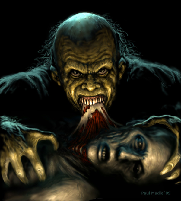 Ghoul Feeding by pmoodie by pmoodie