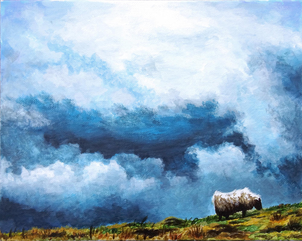 Clouds and sheep by pmoodie