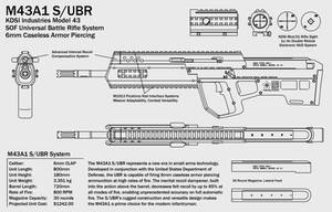 M43A1 Assault Rifle Concept by Nyandgate