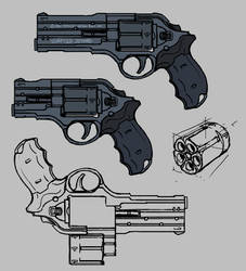 Quick revolver concept by Nyandgate