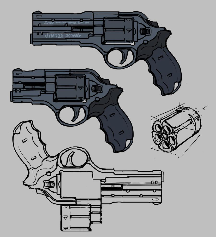 Quick revolver concept by daisukekazama