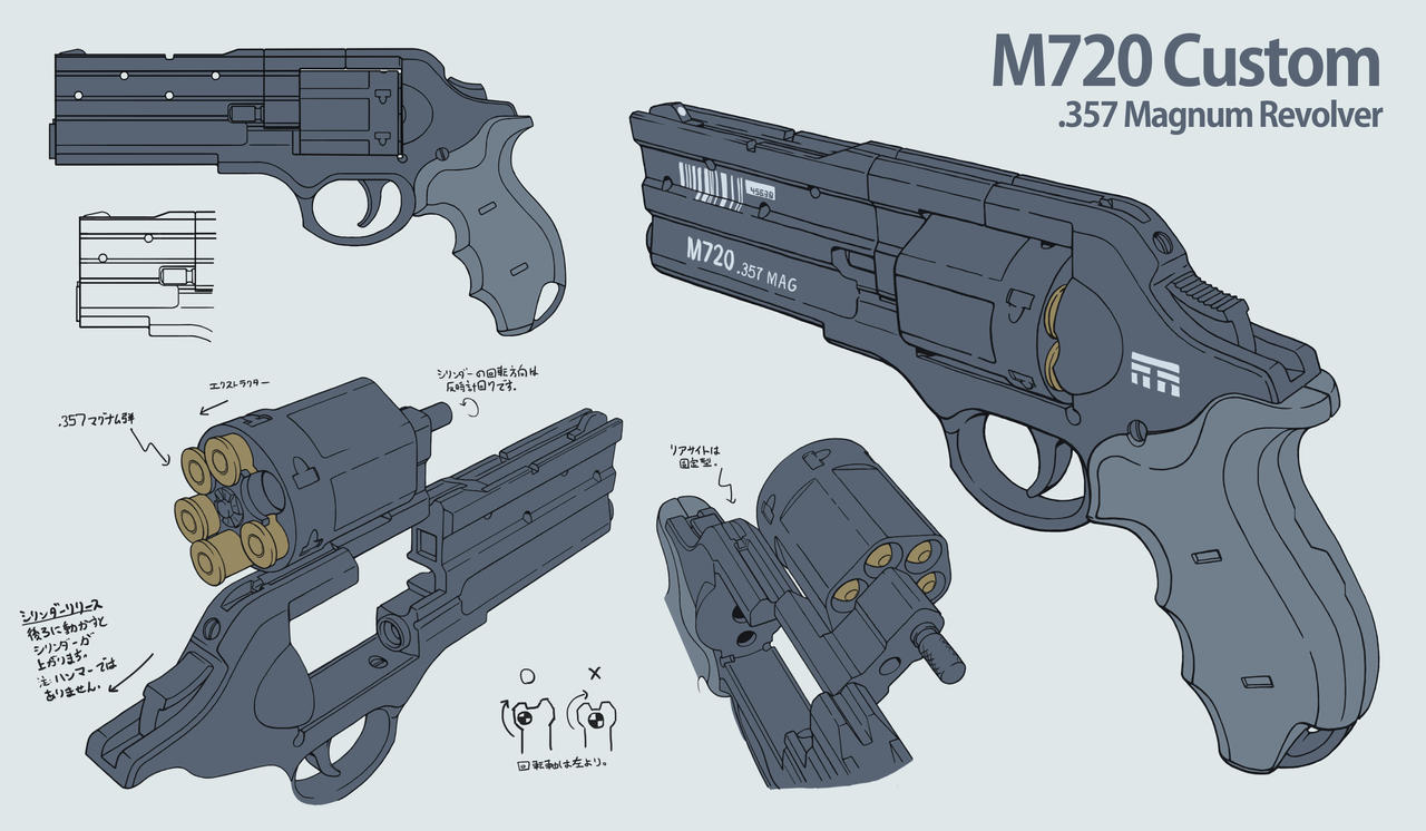 M720 Revolver Design Multiview by daisukekazama
