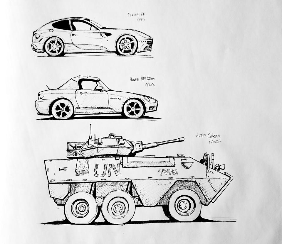Vehicle Geometry Study by daisukekazama