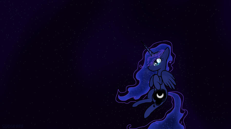 Princess luna night sky wallpaper 1080p by sludge888 on - Princess luna screensaver ...