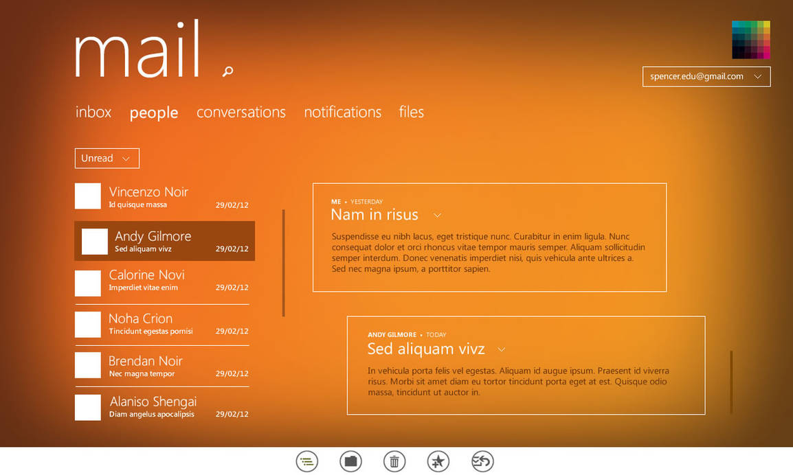Mail app for Windows 8 by uibox on DeviantArt