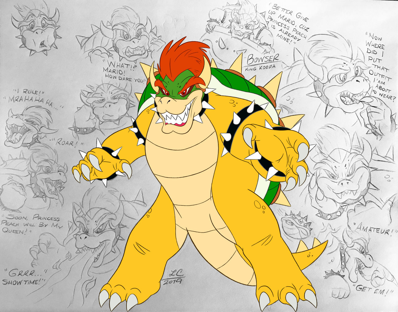 Super Mario Bros Bowser Lc By Liamcampbell On Deviantart