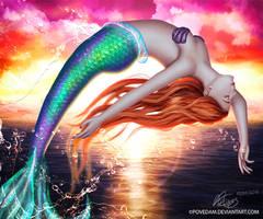 Ultramarine Sunset - Ariel by PovedaM