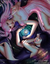 Stargazing Reverie - Hotaru  Chibiusa by PovedaM