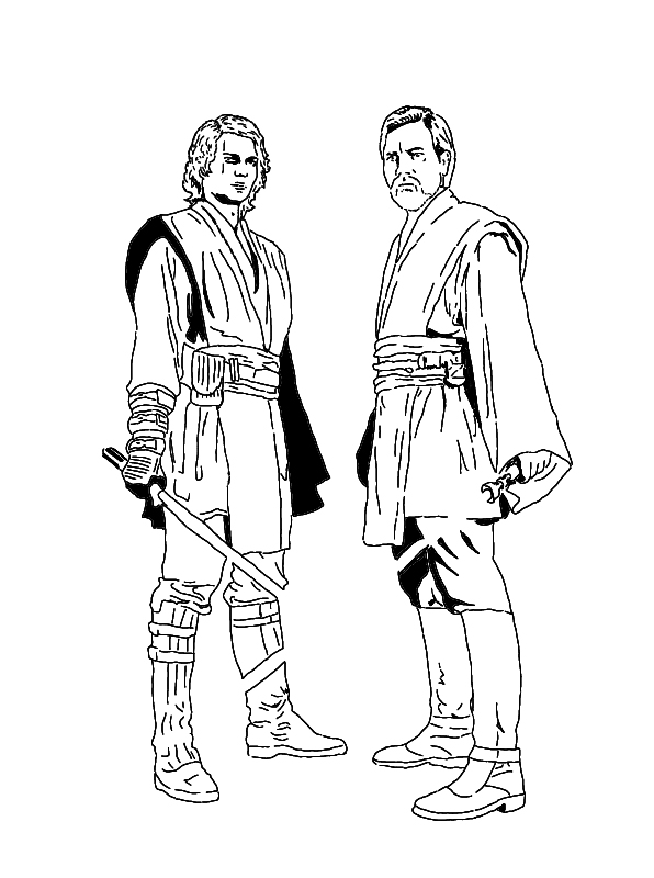 Anakin vs  obi wan colouring pagesAnakin Skywalker Coloring Pages