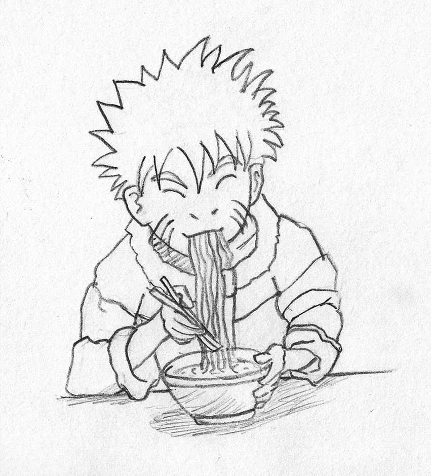 naruto eating ramen coloring pages - photo#2