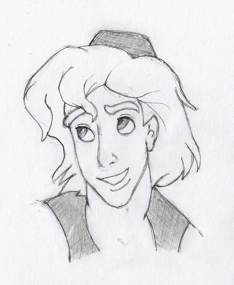 Aladdin face sketch 4 by lejimster