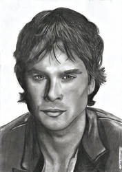 Drawing from Ian Somerhalder by KriszTianOlah