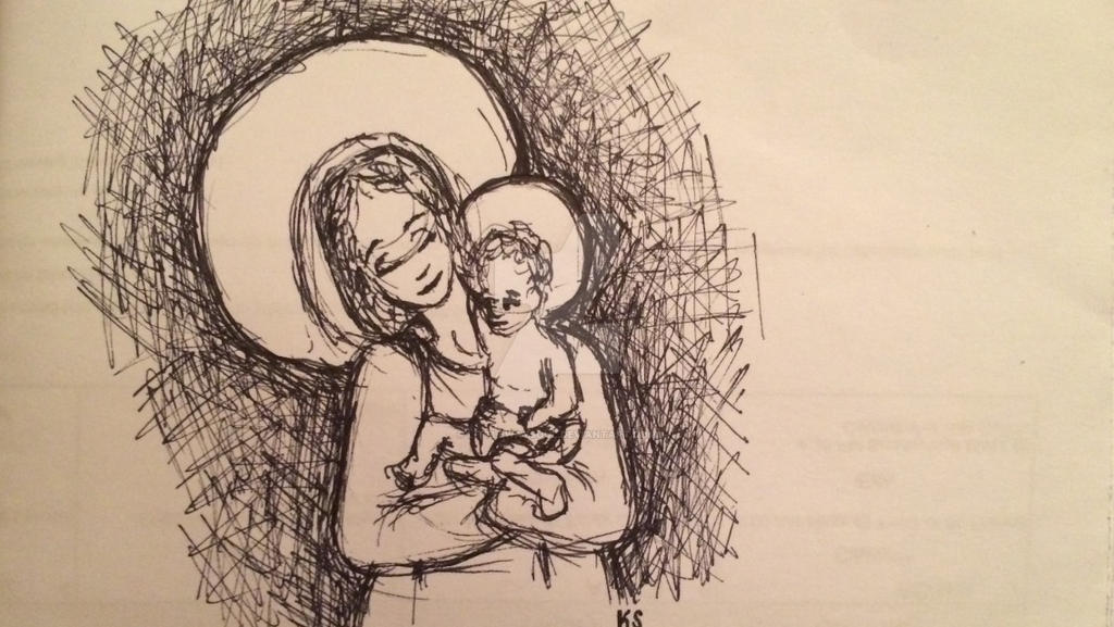 Madonna and child by littlewaysoul