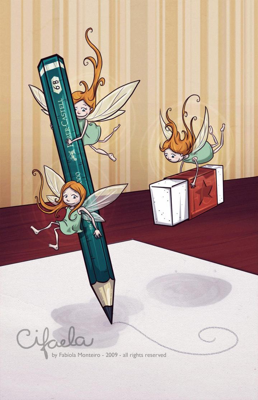 Pencil Fairies by cifaela