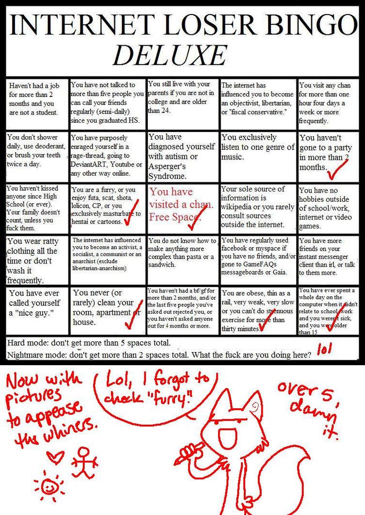 Internet loser bingo deluxe by nicthekitsune on deviantart internet loser bingo deluxe by nicthekitsune solutioingenieria Image collections