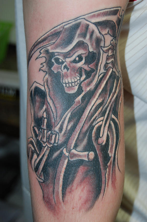 Grim reaper tattoo for Tattoos of the grim reaper