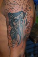 Brian Froud tattoo in progress by Diamondback-Tattoo