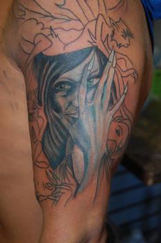 Brian Froud tattoo in progress