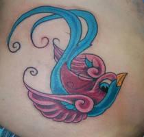 New skool Swallow by Diamondback-Tattoo