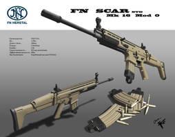 FNH SCAR mk 16 by Cyber--Hawk