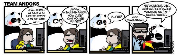 Team Andoks - Panda Flirt by yodacomics