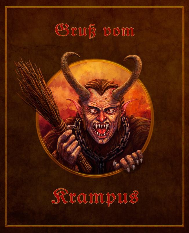 Gruss vom krampus by ironcalf on deviantart - Krampus wallpaper ...